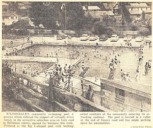 1956 pool opening